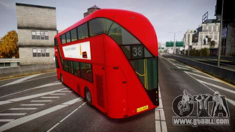 Wrightbus New Routemaster Arriva for GTA 4 back left view