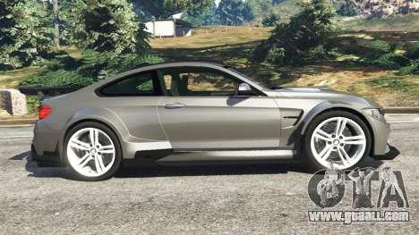 GTA 5 BMW M4 F82 WideBody left side view