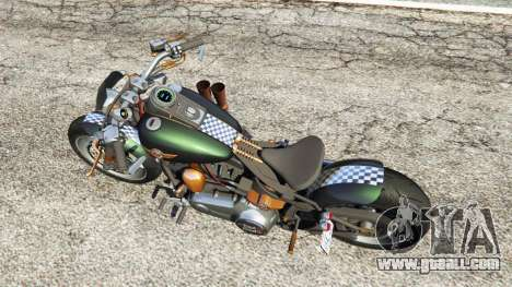 GTA 5 Harley-Davidson Fat Boy Lo Racing Bobber v1.1 back view