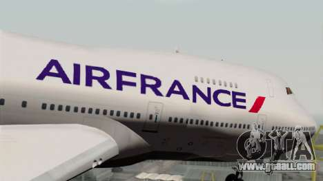 Boeing 747-200 Air France for GTA San Andreas back view