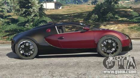 GTA 5 Bugatti Veyron Grand Sport v4.1 left side view