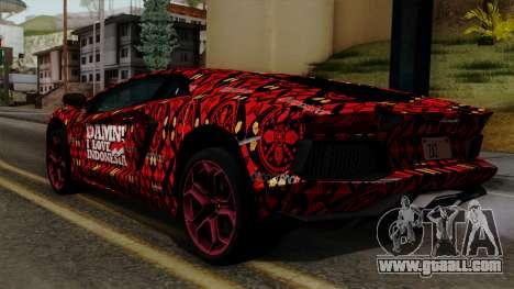 Lamborghini Aventador LP-700 Batik for GTA San Andreas left view