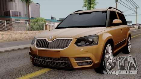 Skoda Yeti 2014 for GTA San Andreas