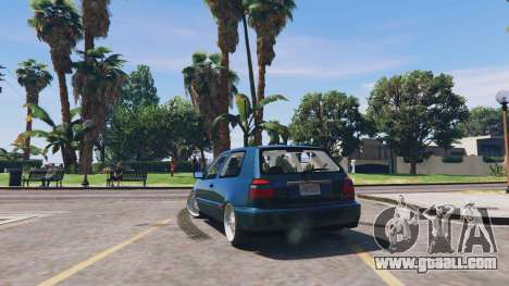 GTA 5 Volkswagen Golf MK3 GTi rear left side view