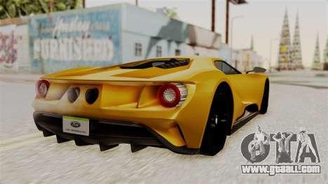 Ford GT 2016 Black Revel for GTA San Andreas left view