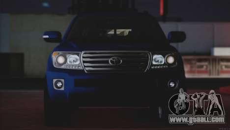 Toyota Land Cruiser 200 for GTA San Andreas bottom view
