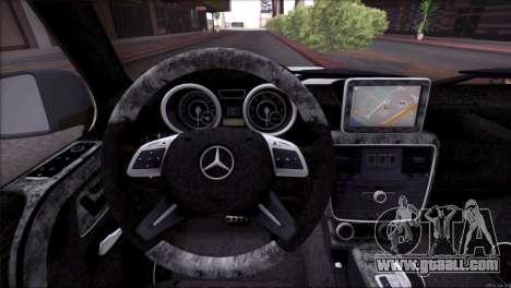 Mercedes Benz G65 AMG 2015 Topcar Tuning for GTA San Andreas engine