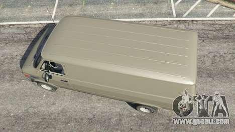 GTA 5 Chevrolet G20 Van back view