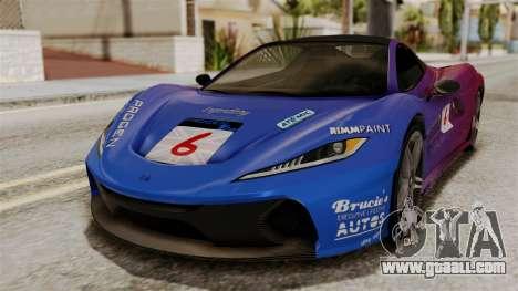 GTA 5 Progen T20 SA Style for GTA San Andreas back view