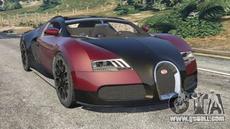 Bugatti Veyron Grand Sport v4.1 for GTA 5