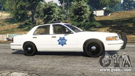 GTA 5 Ford Crown Victoria 1999 Police v0.9 left side view