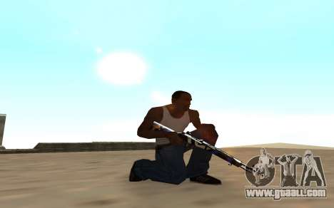 Rifle with a tiger cub for GTA San Andreas second screenshot