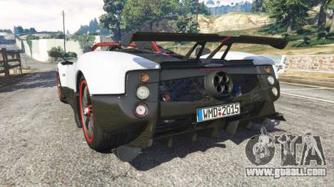 GTA 5 Pagani Zonda Cinque Roadster rear left side view