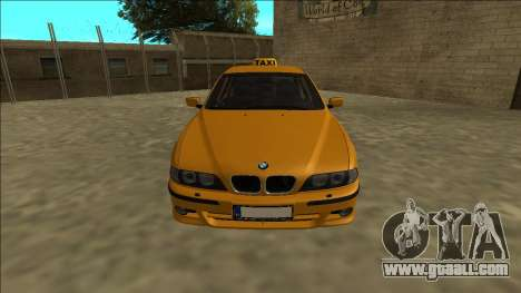 1999 BMW 530d E39 Taxi for GTA San Andreas right view
