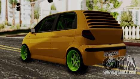 Daewoo Matiz Tuning for GTA San Andreas left view
