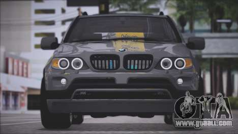 BMW X5 E53 for GTA San Andreas back view