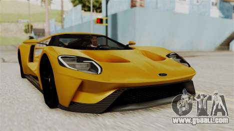 Ford GT 2016 Black Revel for GTA San Andreas