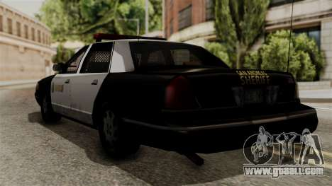 Ford Crown Victoria LP v2 Sheriff for GTA San Andreas left view