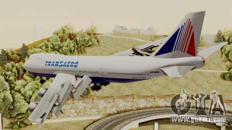 Boeing 747 TransAero for GTA San Andreas left view