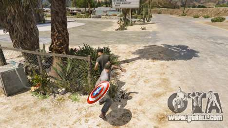 GTA 5 Shield Captain America fourth screenshot