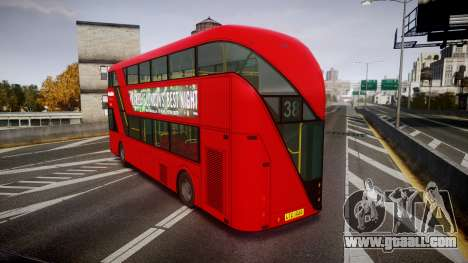 Wrightbus New Routemaster Metroline for GTA 4 back left view