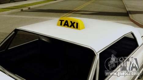 Taxi-Savanna for GTA San Andreas right view