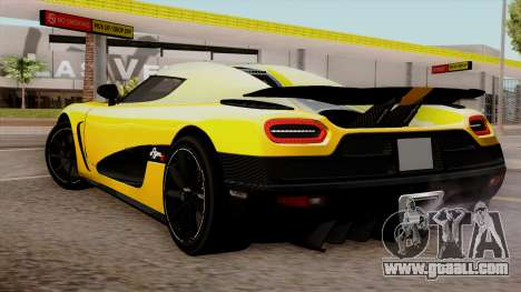 Koenigsegg Agera R 2014 for GTA San Andreas left view