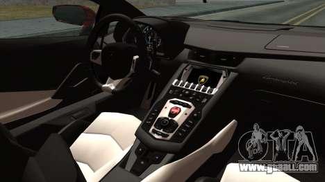 Lamborghini Aventador LP-700 Batik for GTA San Andreas right view