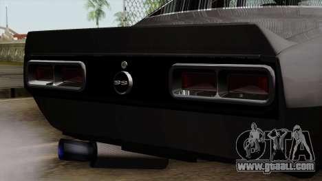 Chevrolet Camaro SS for GTA San Andreas back view