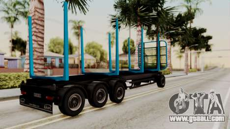 Wood Transport Trailer from ETS 2 for GTA San Andreas left view
