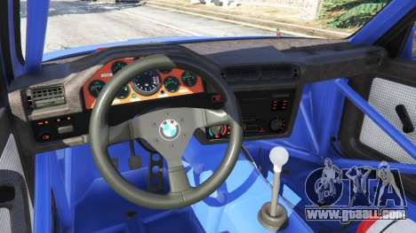 GTA 5 BMW M3 (E30) 1991 steering wheel
