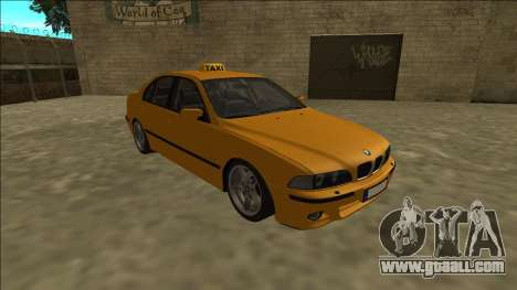 1999 BMW 530d E39 Taxi for GTA San Andreas back view