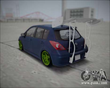 Nissan Tiida Drift Korch for GTA San Andreas back left view