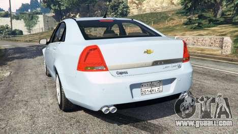 GTA 5 Chevrolet Caprice LS 2014 rear left side view