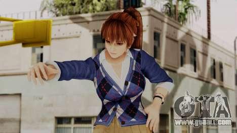 DOA 5 Kasumi Blue Sweater for GTA San Andreas