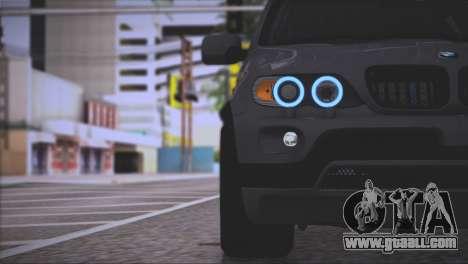 BMW X5 E53 for GTA San Andreas interior