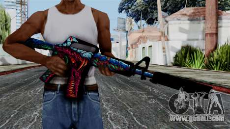M4A1-S Hyper Beast for GTA San Andreas third screenshot