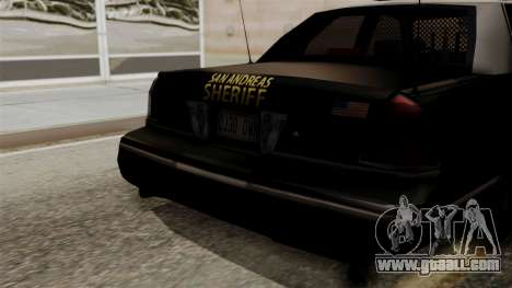 Ford Crown Victoria LP v2 Sheriff for GTA San Andreas right view