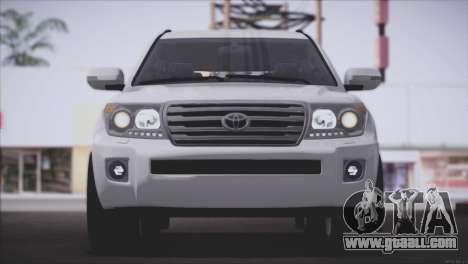 Toyota Land Cruiser 200 for GTA San Andreas inner view
