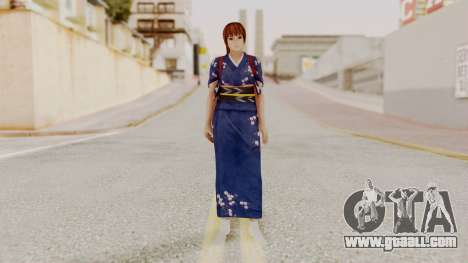 DOA 5 Kasumi Kimono for GTA San Andreas second screenshot