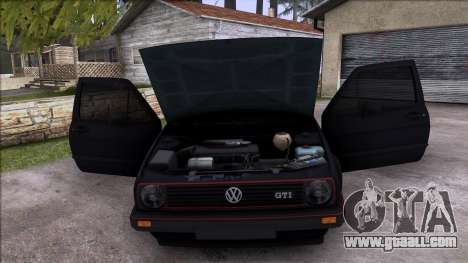Volkswagen Golf Mk2 Line for GTA San Andreas upper view