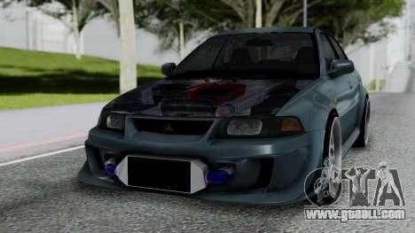 Mitsubishi Lancer Evolution Turbo for GTA San Andreas