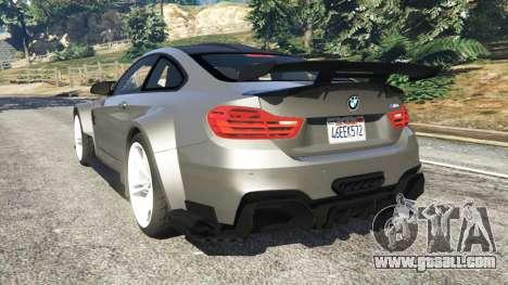 GTA 5 BMW M4 F82 WideBody rear left side view