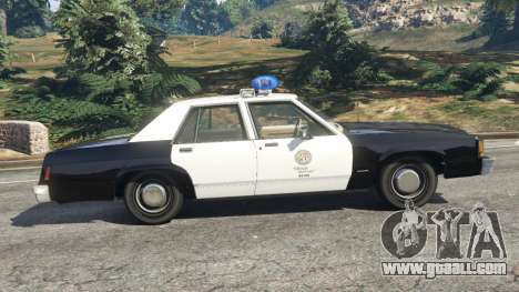 GTA 5 Ford LTD Crown Victoria 1987 LSPD left side view