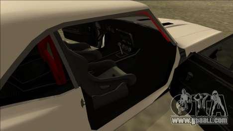Chevrolet Camaro SS Drift for GTA San Andreas back left view