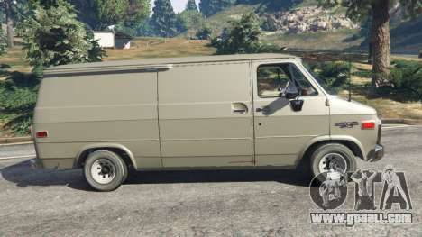 GTA 5 Chevrolet G20 Van left side view