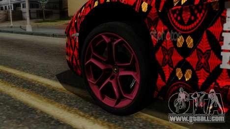 Lamborghini Aventador LP-700 Batik for GTA San Andreas back left view