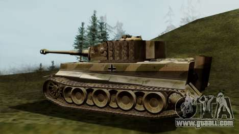 Panzerkampfwagen VI Ausf. E Tiger for GTA San Andreas left view