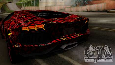 Lamborghini Aventador LP-700 Batik for GTA San Andreas engine