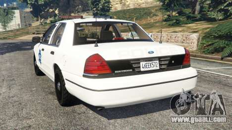 GTA 5 Ford Crown Victoria 1999 Police v0.9 rear left side view